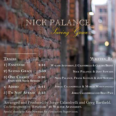 Nick Palance - Saving Grace Insert